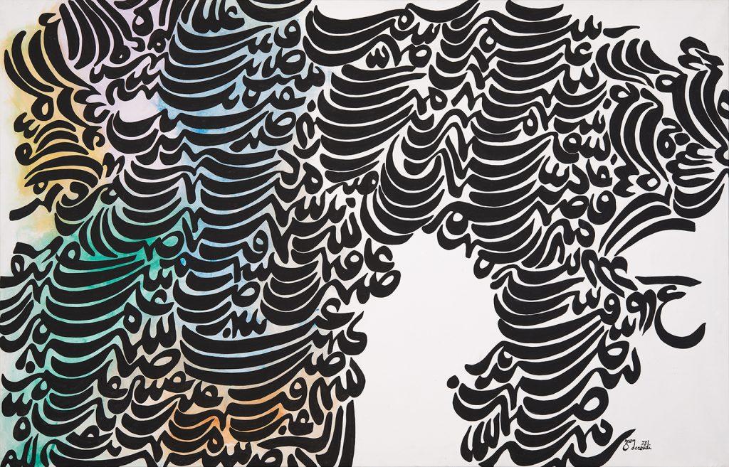 خط نقاشی حسین زده رودی