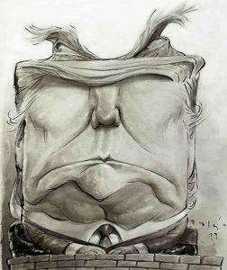 در کاریکاتور میتوان حتی به صورت چند ضلعی نیز سر افراد را طراحی کرد