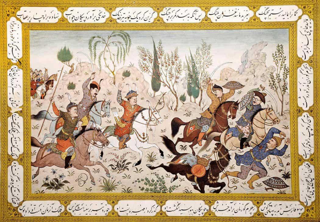 یوند مینیاتور ایرانی با داستانهای اساطیری