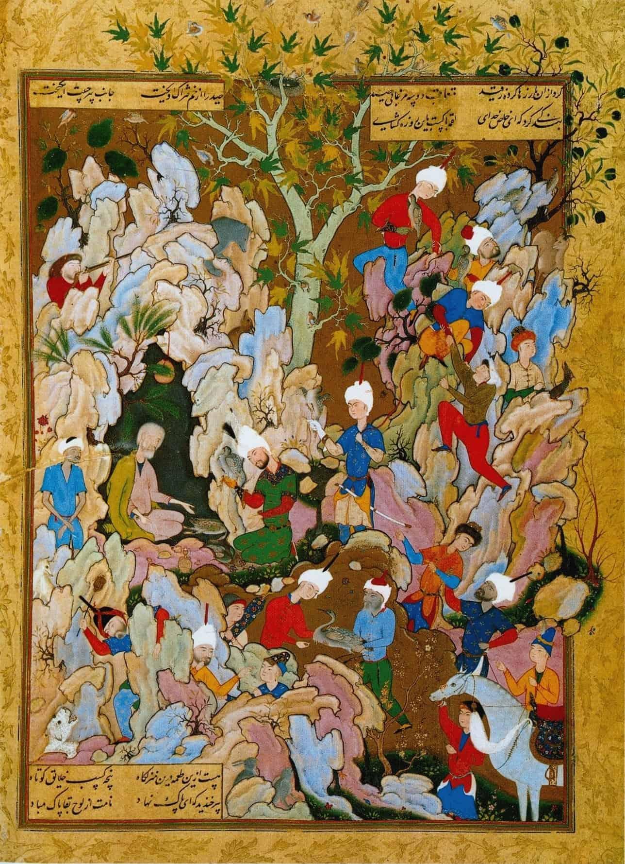 نسخه خطی شاهنامه بههمراه نقاشی ایرانی مینیاتور