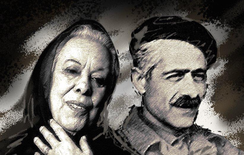 تصویر جلال آل احمد نویسنده، منتقد ادبی و مترجم ایرانی و همسر وی سیمین دانشجور از نویسندگان پر افتخار ایرانی